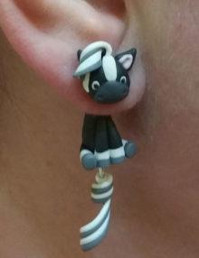 Paci fülbevaló - fekete