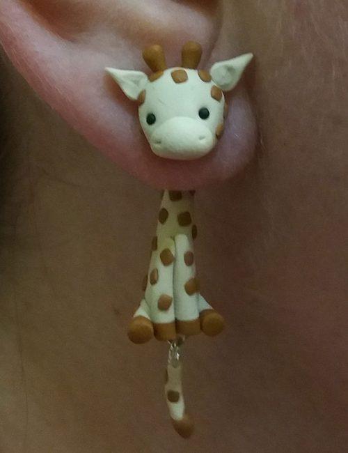 Zsiráf fülbevaló