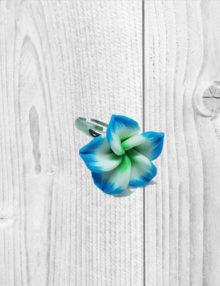 Süthető gyurma ékszer - gyűrű kék