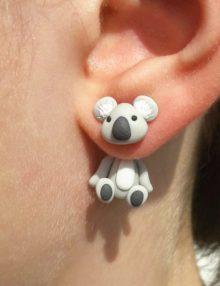 Gyurma Trend - Koala fülbevaló