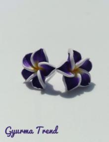 Gyurma Trend - klasszik lila bedugós fülbevaló