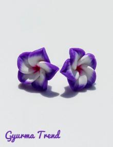 Gyurma trend - bedugós fülbevaló cirmos lila