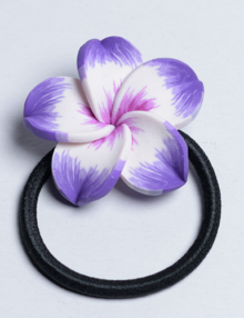 Süthető gyurma ékszer - hajgumi lila